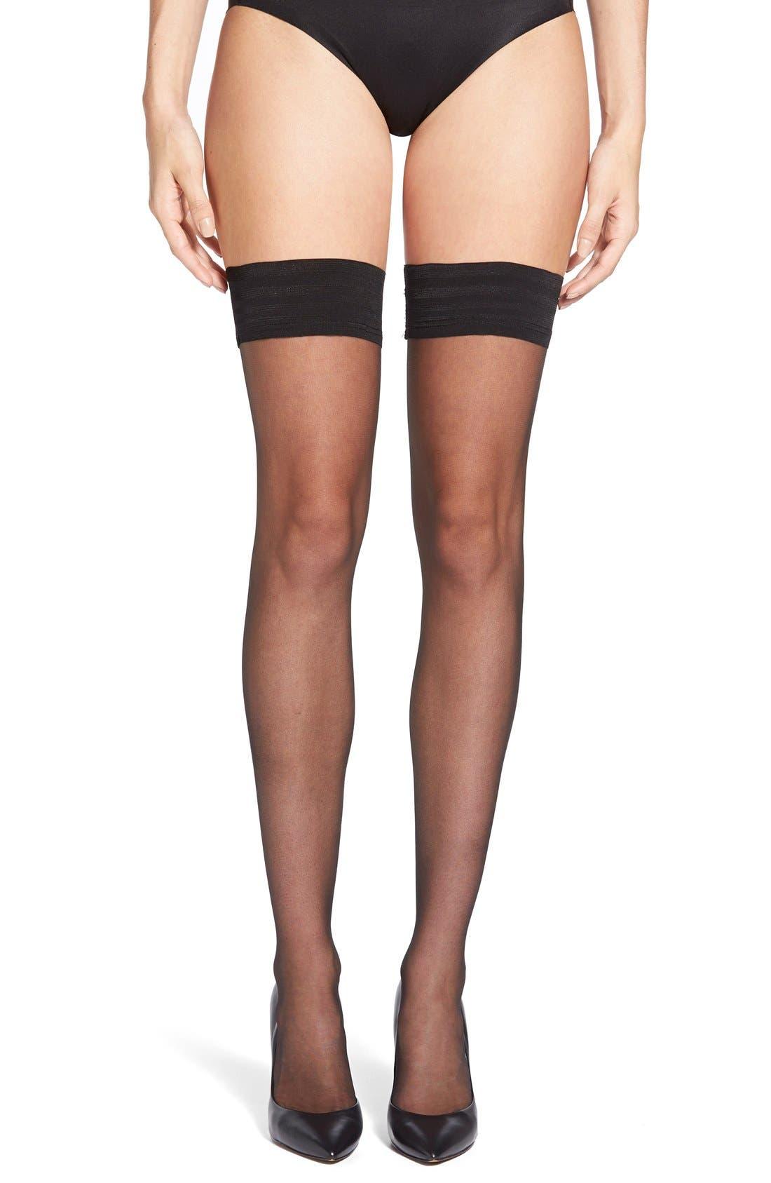 Alternate Image 1 Selected - Calvin Klein Thigh High Stockings