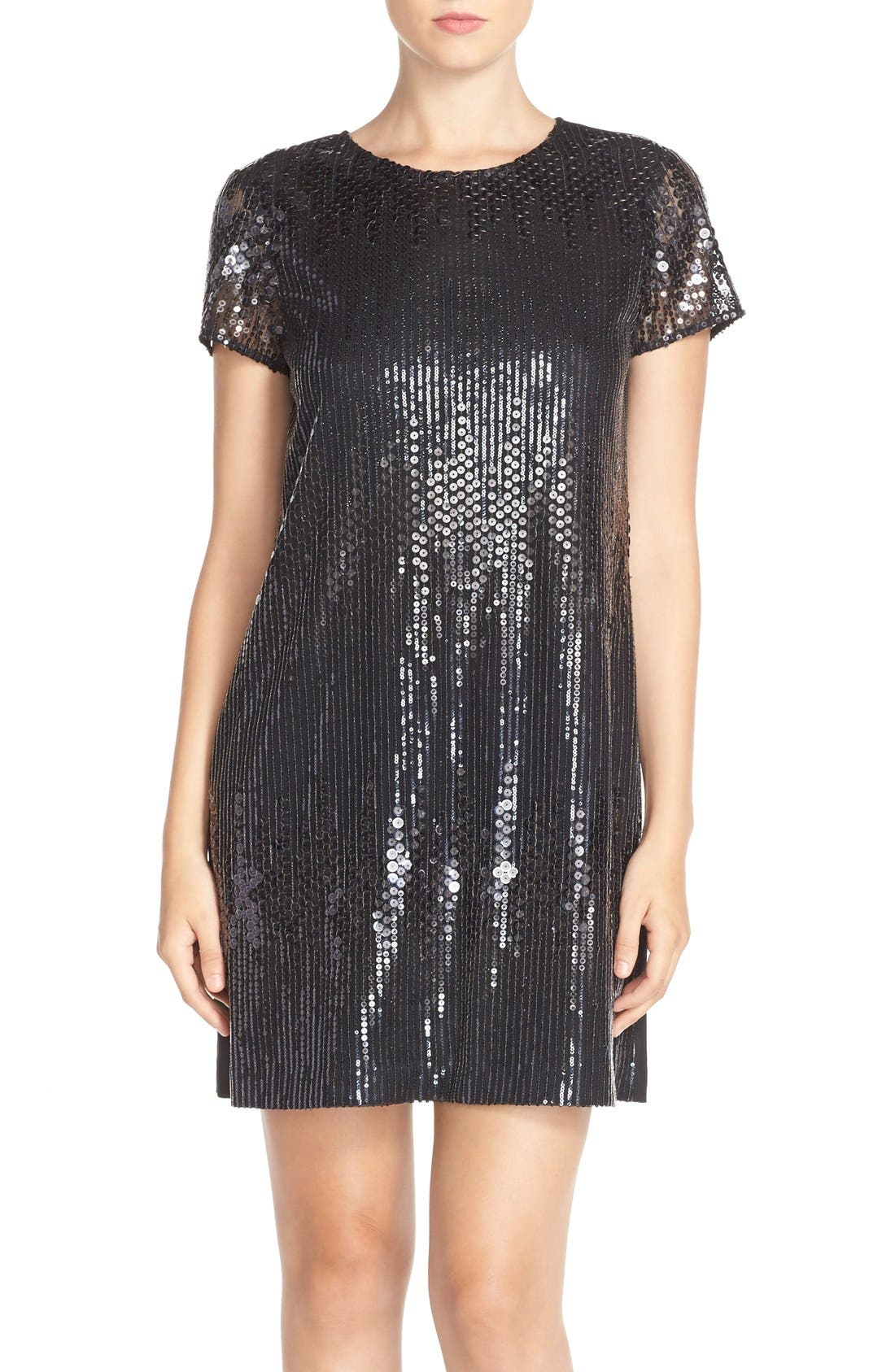 Alternate Image 1 Selected - CeCe by Cynthia Steffe 'Michele' Sequin Woven Shift Dress