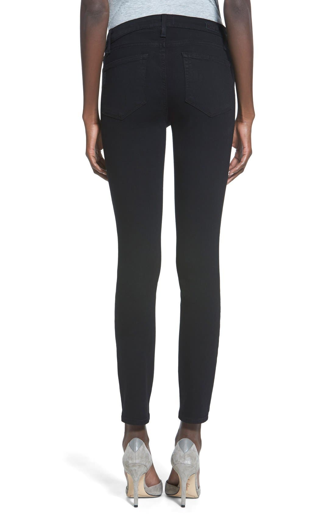 Alternate Image 2  - PAIGE Transcend - Verdugo Ankle Ultra Skinny Jeans (Black Shadow)