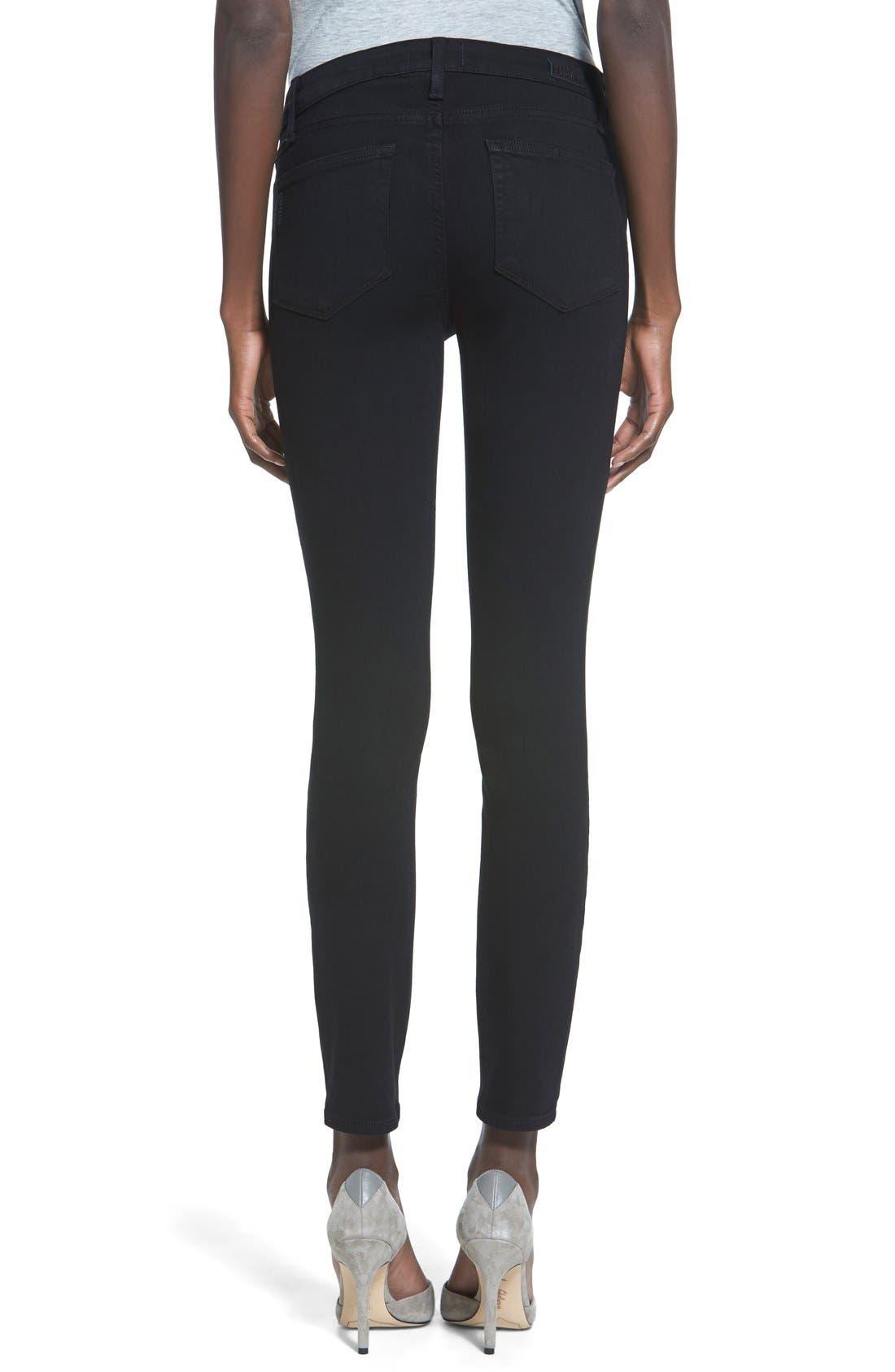 Alternate Image 2  - PAIGE 'Transcend - Verdugo' Ankle Ultra Skinny Jeans (Black Shadow)