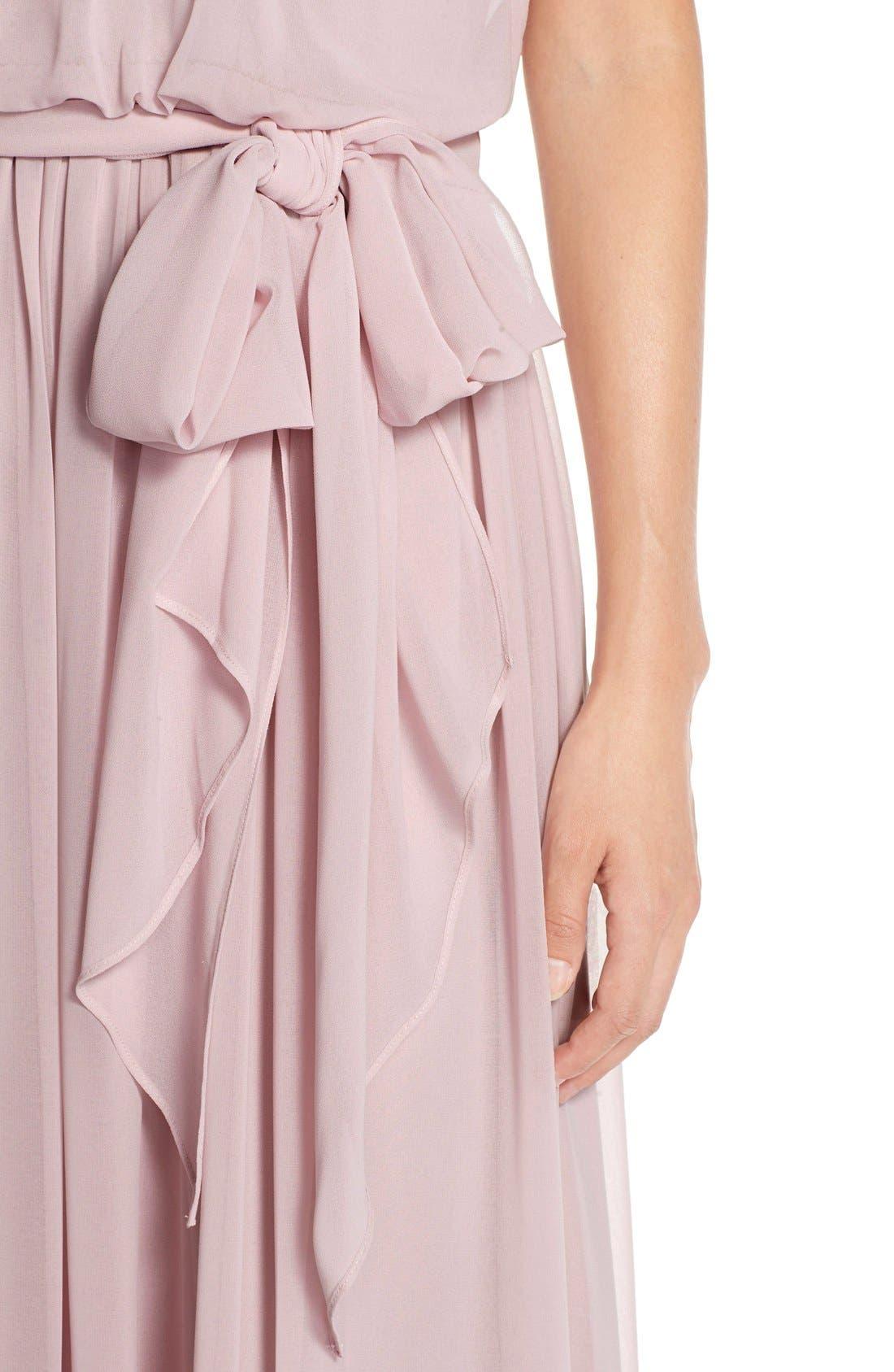 Alternate Image 4  - Donna Morgan 'Alana' Chiffon Halter Style Gown