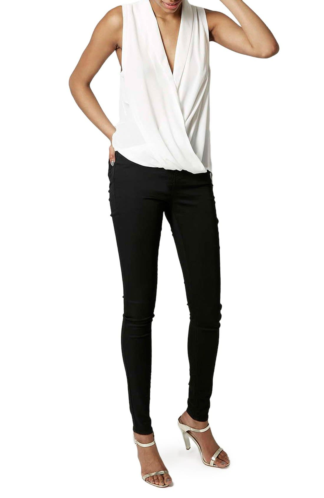Alternate Image 2  - Topshop 'Leigh' High Rise Skinny Jeans (Tall)