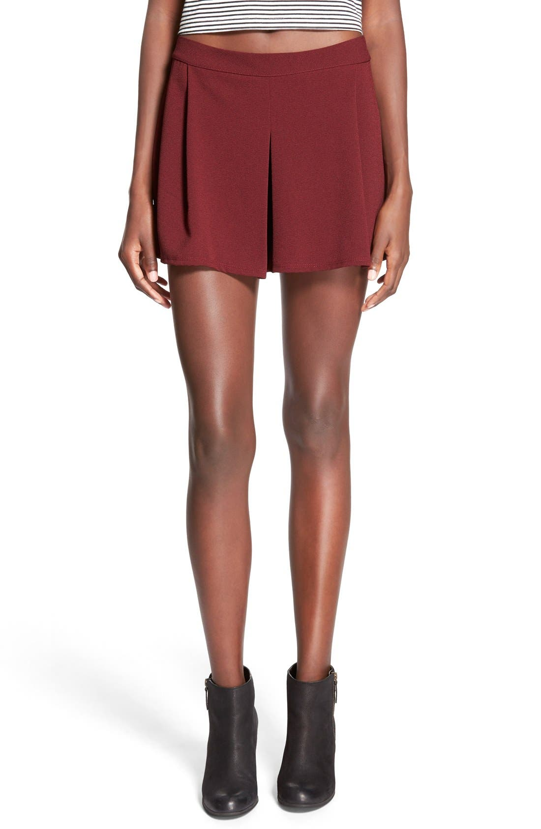 Alternate Image 1 Selected - Lily White Pleat Front Knit Shorts