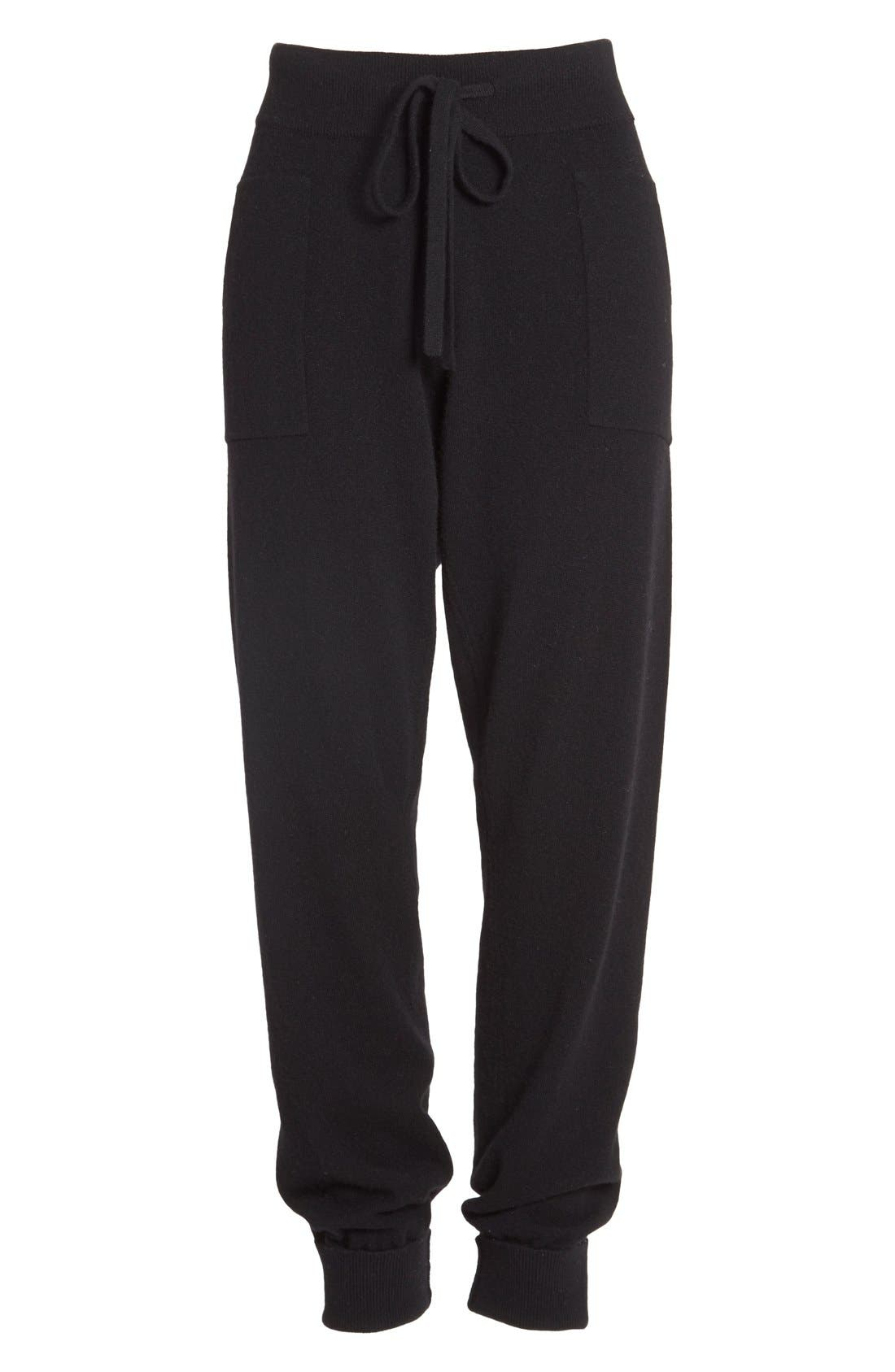 Alternate Image 4  - Donna Karan Collection Midweight Rib Jogger Pants