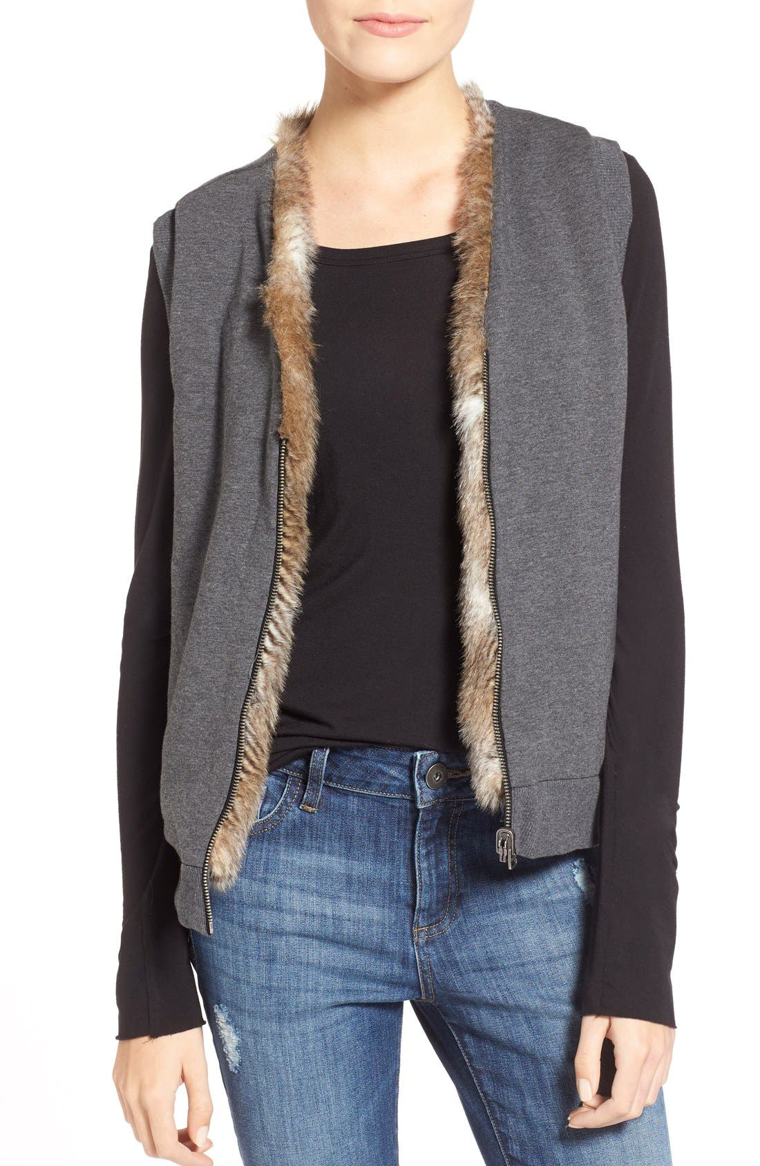 Alternate Image 5  - Splendid 'Ashville' Faux Fur Reversible Vest
