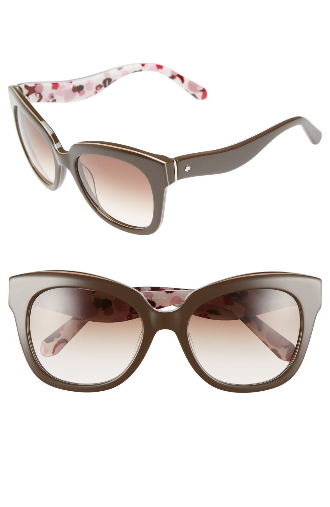 Alternate Image 1 Selected - kate spade new york amberly 54mm cat eye sunglasses