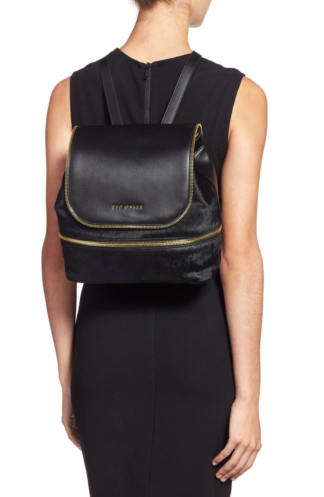 Alternate Image 2  - Ted Baker London Genuine Calf Hair & Leather Backpack
