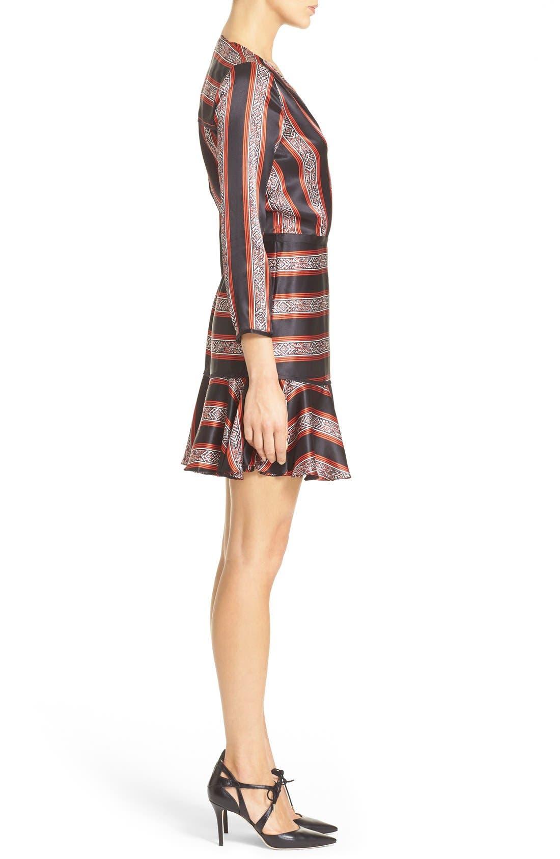 Alternate Image 3  - Veronica Beard 'Ivy' Print SilkFlounce Dress