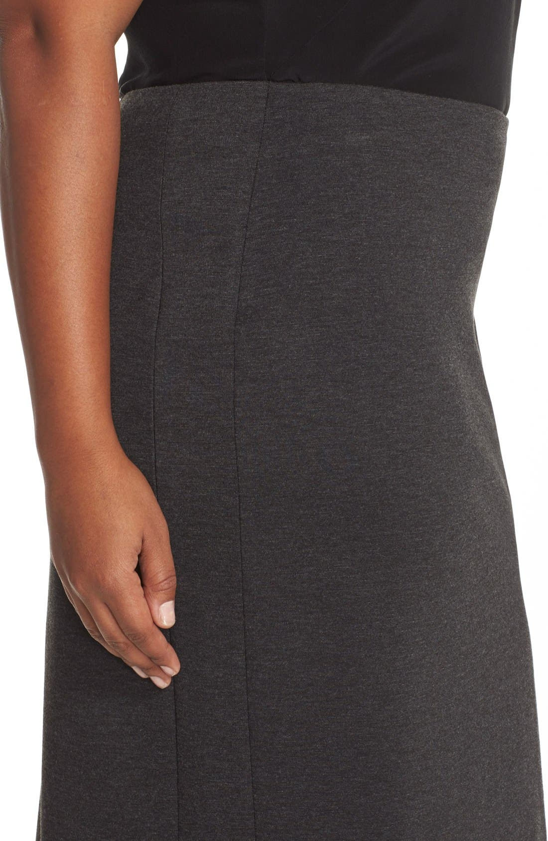 Alternate Image 4  - Vince Camuto Ponte Knit Skirt (Plus Size)