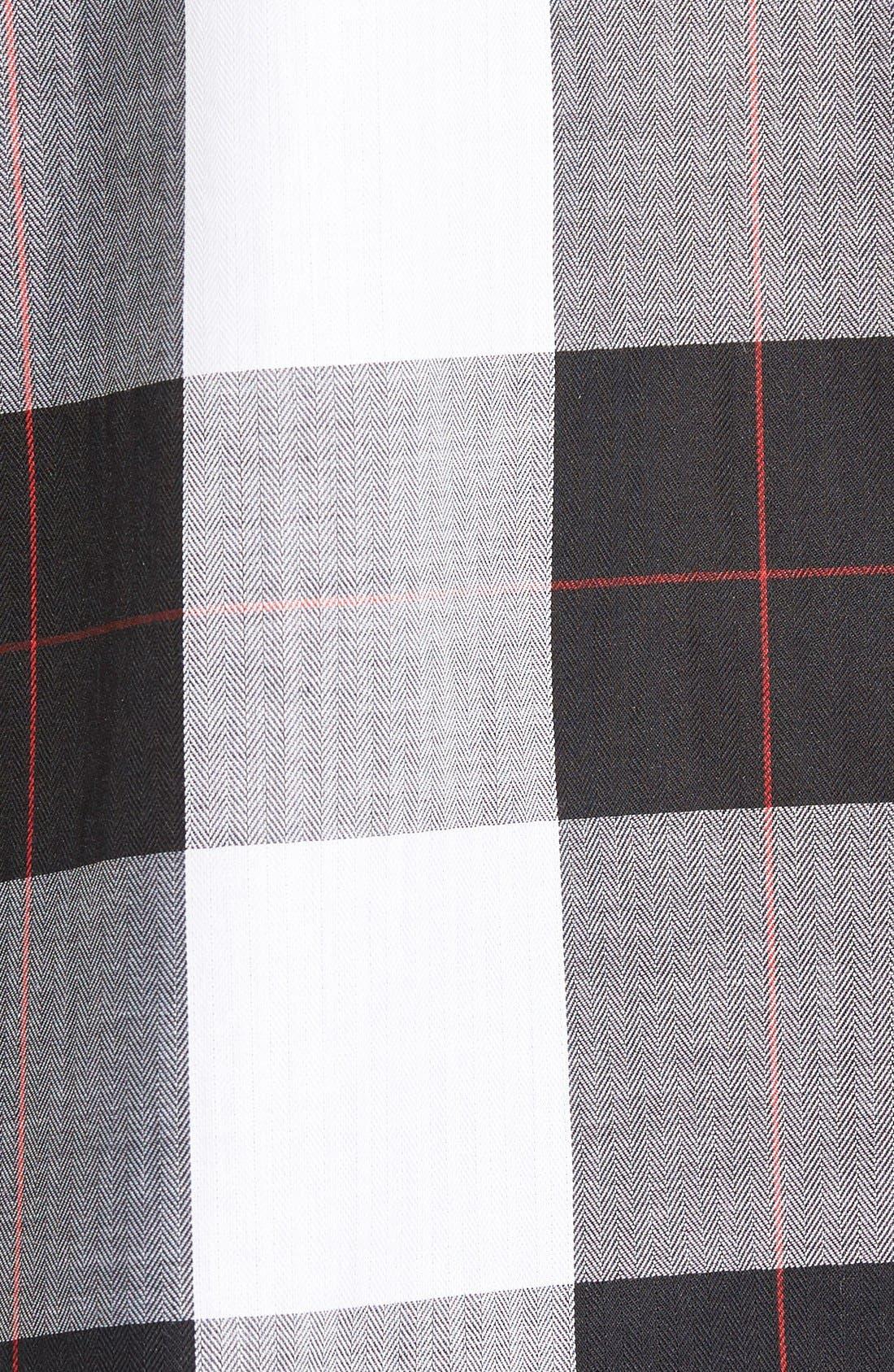 Alternate Image 5  - Foxcroft Herringbone Buffalo Check Shirt (Regular & Petite)
