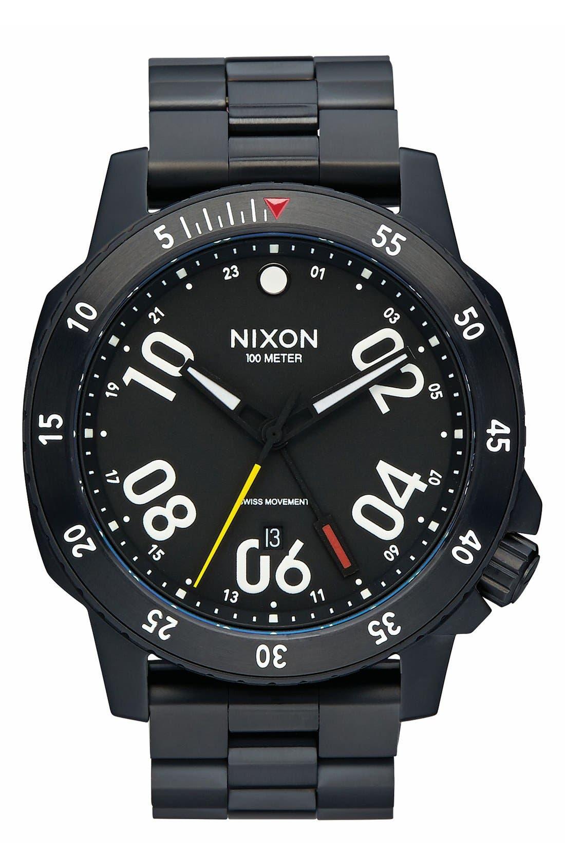 Nixon 'Ranger GMT' Bracelet Watch, 44mm