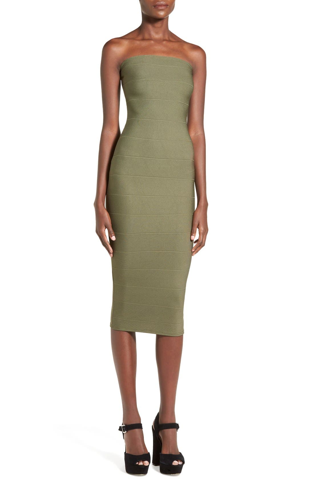 Alternate Image 1 Selected - Missguided Strapless Bandage Body-Con Dress
