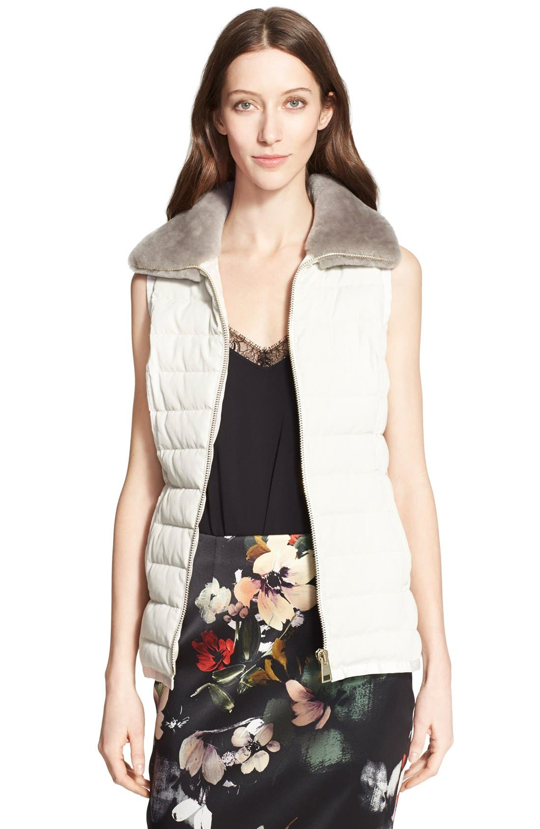 Alternate Image 4  - Nordstrom Signature and Caroline Issa 2-in-1 Parka with Genuine Shearling Collar