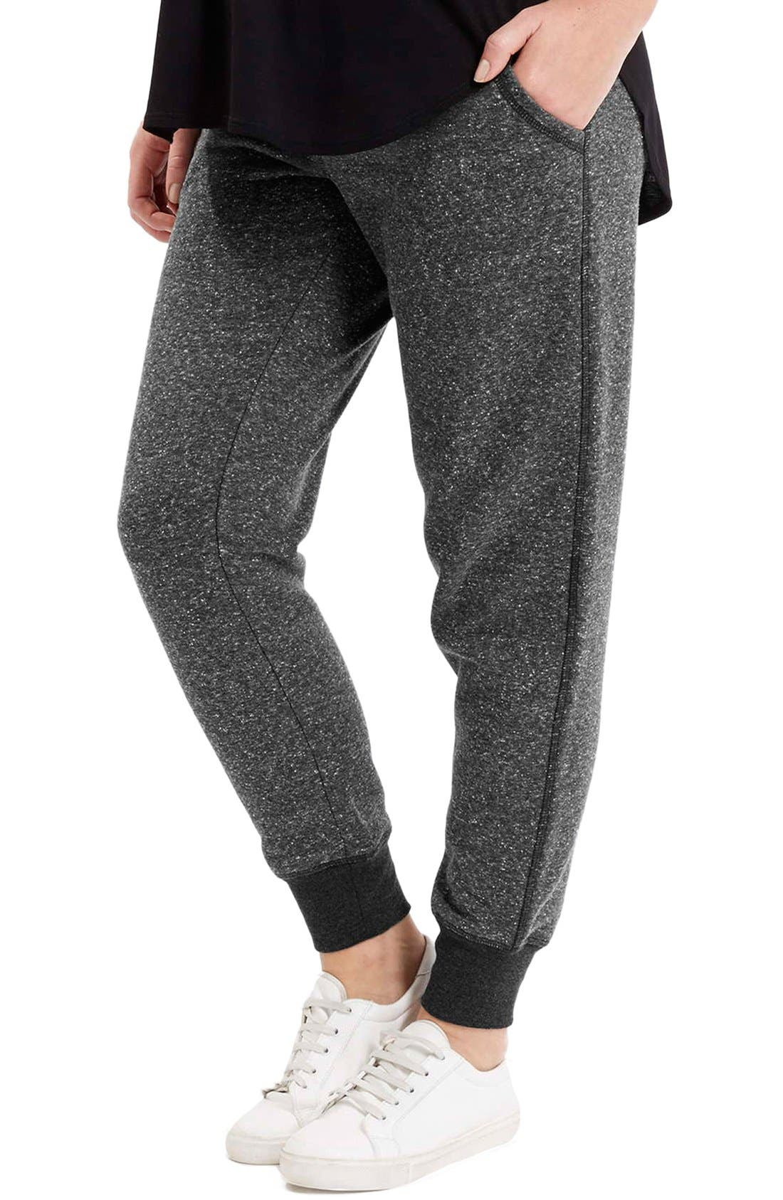 Alternate Image 1 Selected - Topshop Neppy Maternity Jogger Pants