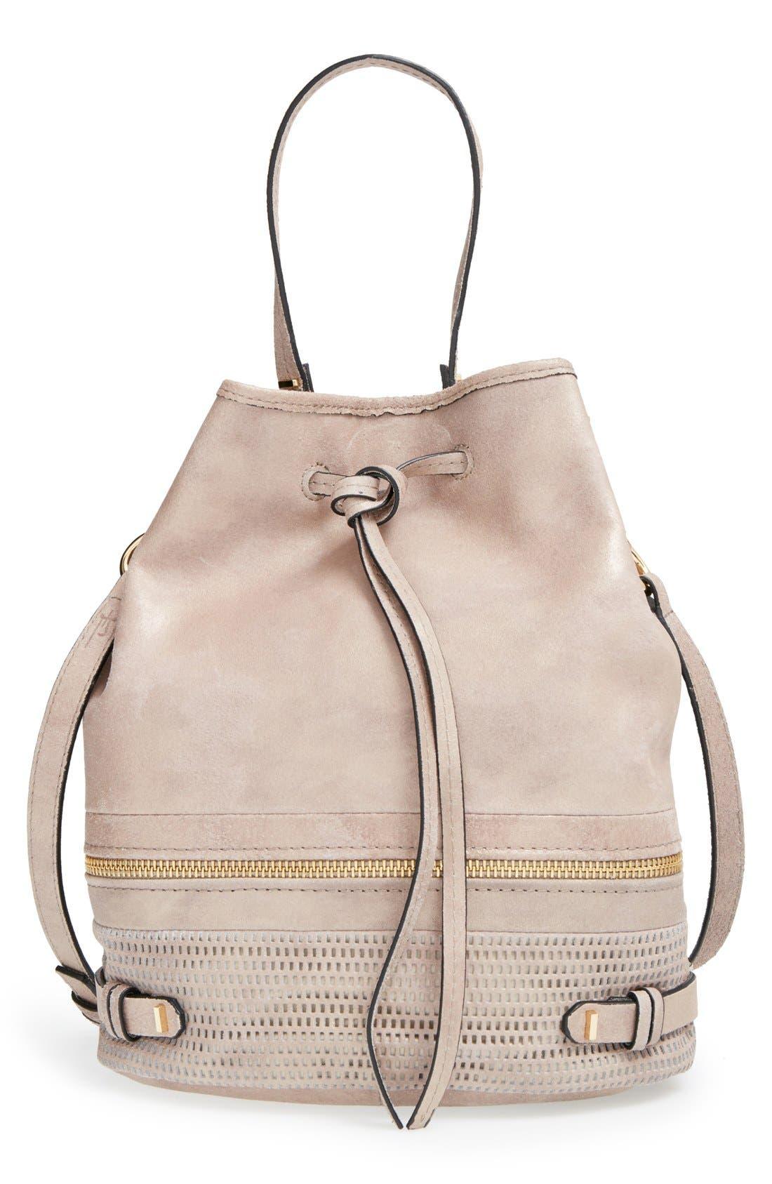 Alternate Image 1 Selected - She + Lo 'Silver Lining' Drawstring Shoulder Bag