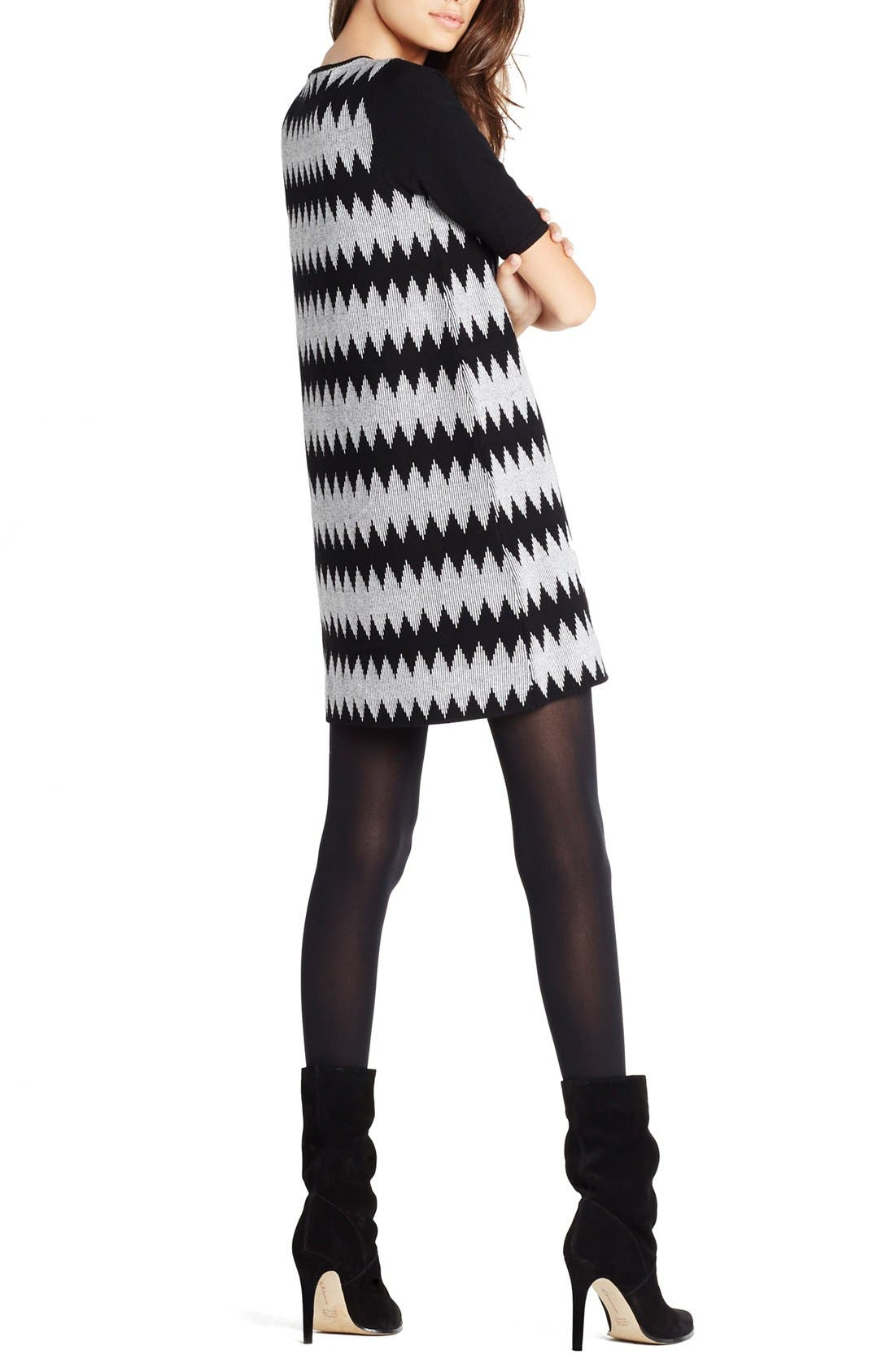 Alternate Image 2  - BCBGeneration Jacquard Shift Sweater Dress