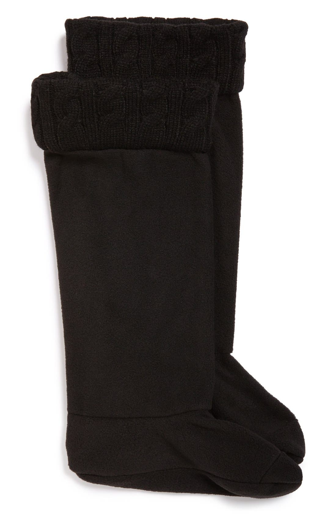 Alternate Image 1 Selected - Chooka Cable Knit Cuff Rain Boot Socks