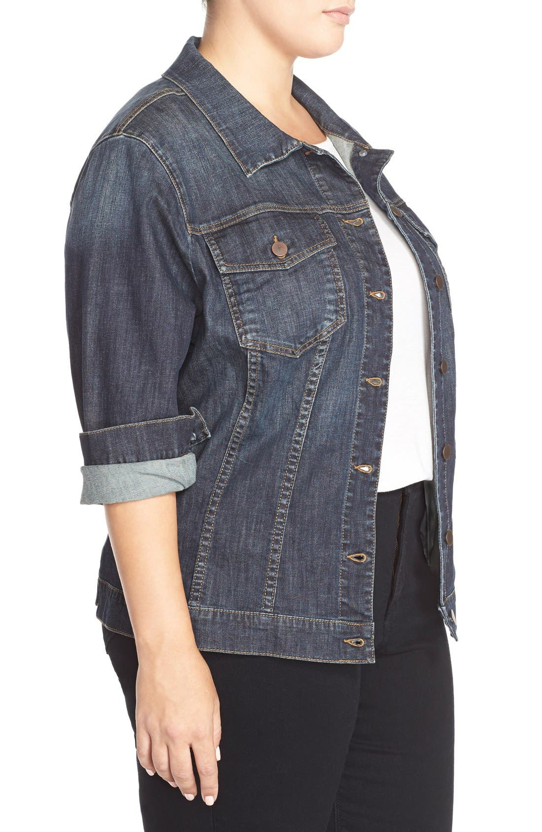 Alternate Image 3  - KUT from the Kloth Denim Jacket (Plus Size)