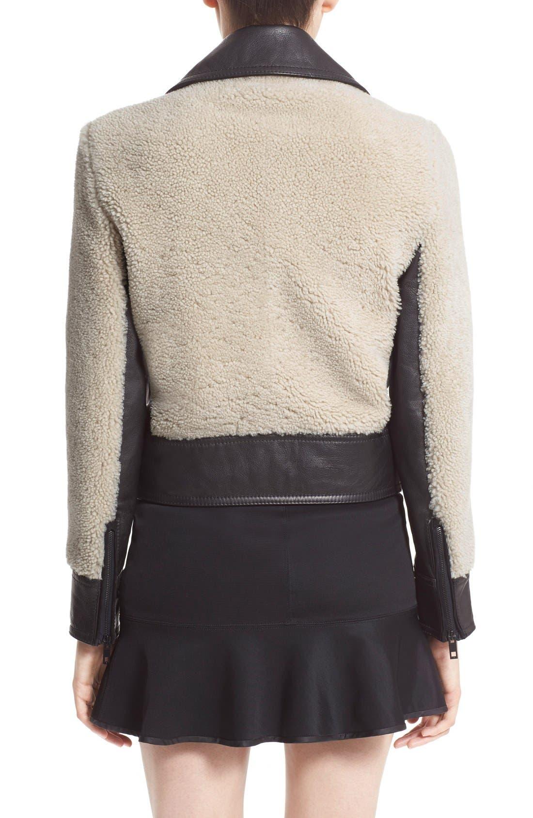 Alternate Image 2  - rag & bone 'Billie' Leather TrimGenuine Shearling Jacket