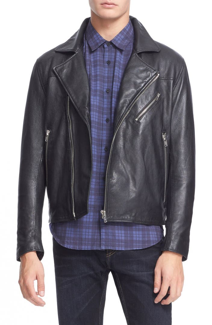 Levi 39 s made crafted 39 offroad 39 leather moto jacket for Levis made and crafted review