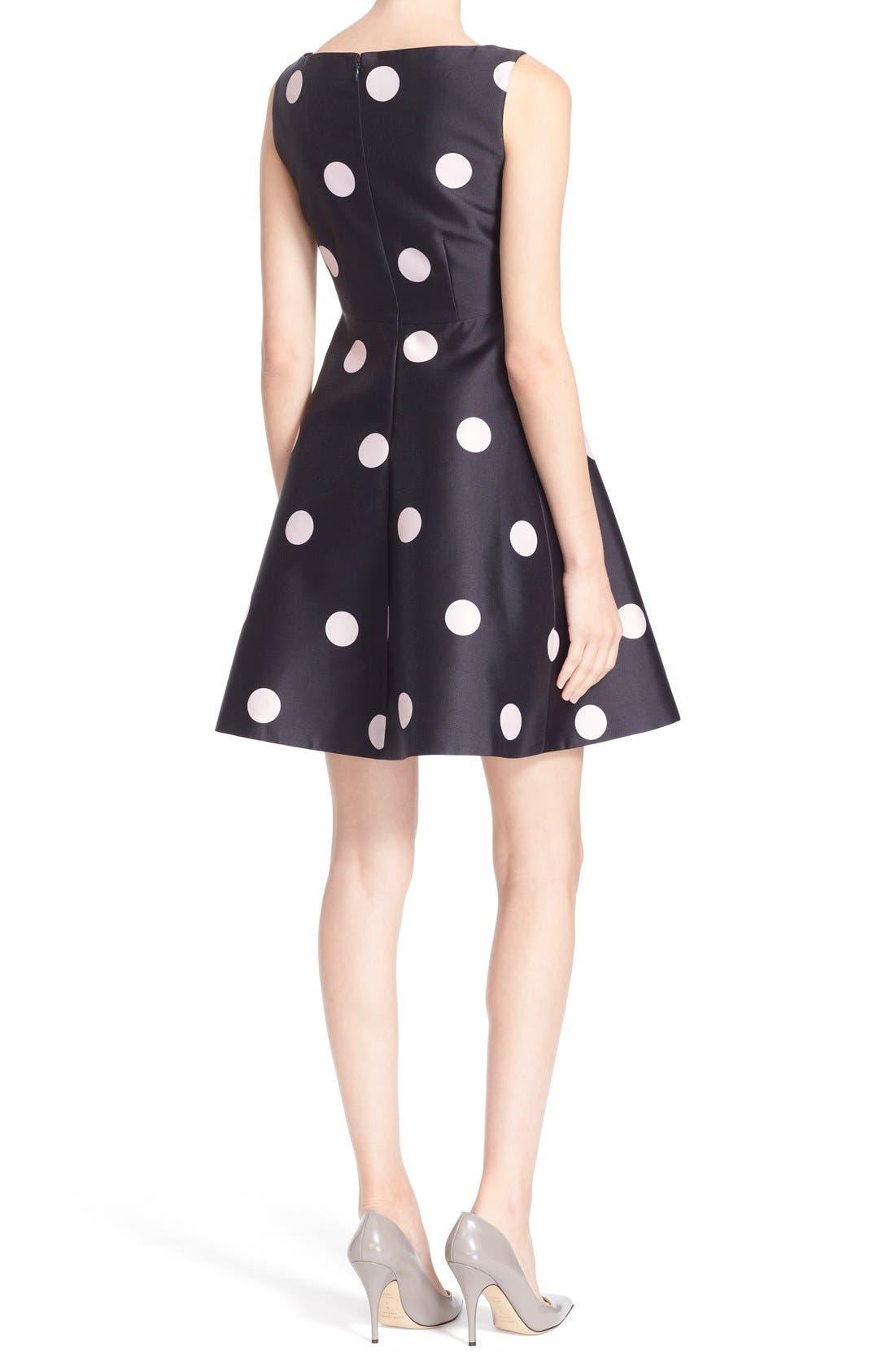 Alternate Image 2  - kate spade new york v-neck polka dot fit & flare dress