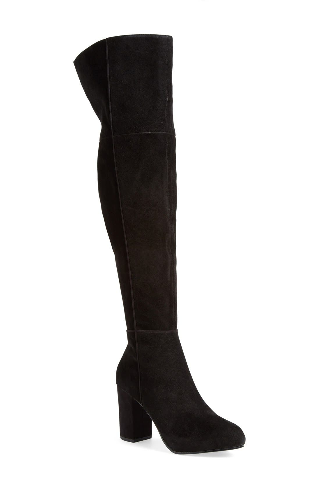 Alternate Image 1 Selected - Topshop 'Count' Over the Knee Boot (Women)