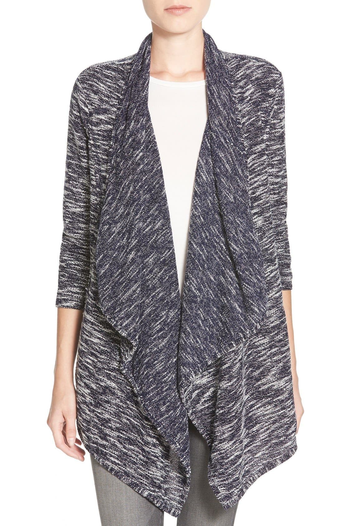 Alternate Image 1 Selected - Caslon® Drape Front Cardigan (Regular & Petite)