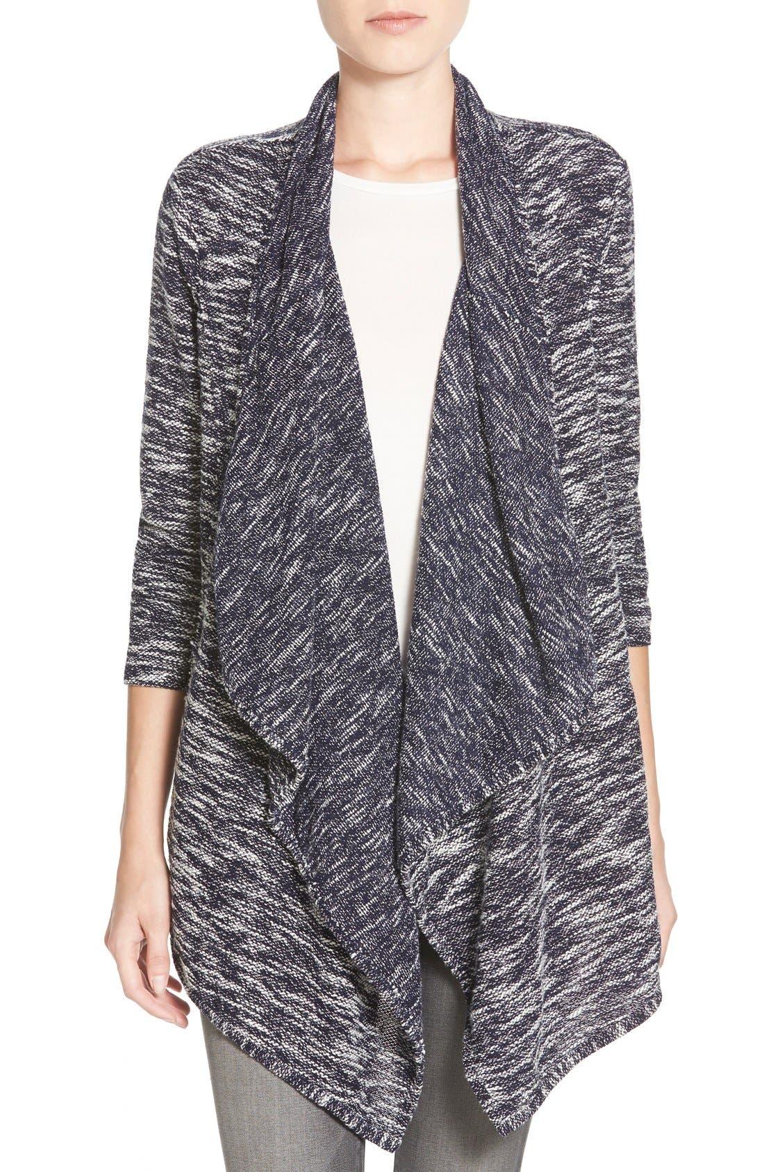Main Image - Caslon® Drape Front Cardigan (Regular & Petite)