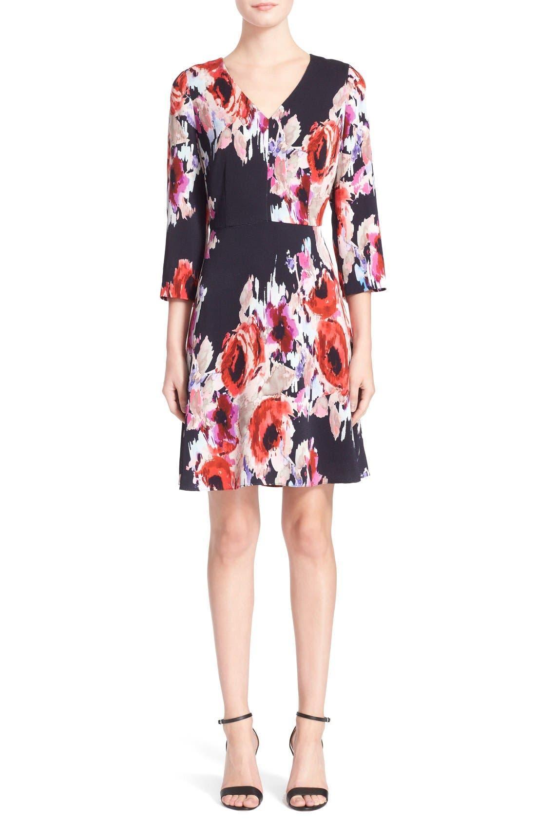 Alternate Image 1 Selected - kate spade new york floral print v-neck dress
