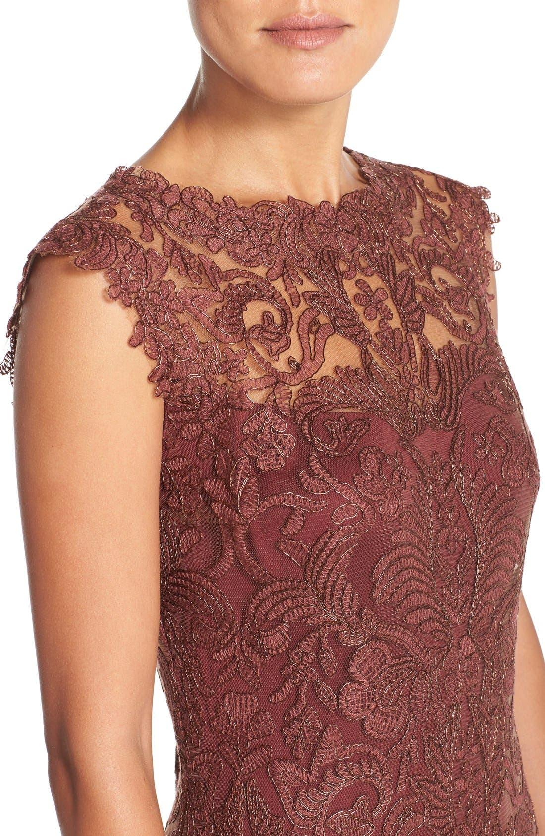 Alternate Image 4  - Tadashi Shoji Embroidered Tulle A-Line Dress