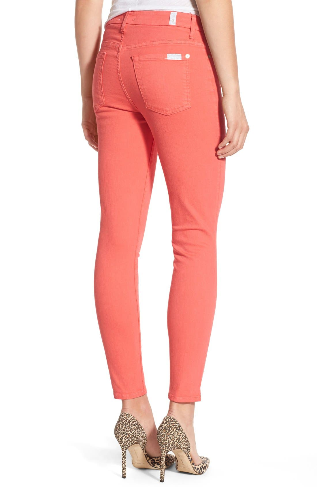 Alternate Image 2  - 7 For All Mankind® 'Slim Illusion' Colored Ankle Skinny Jeans