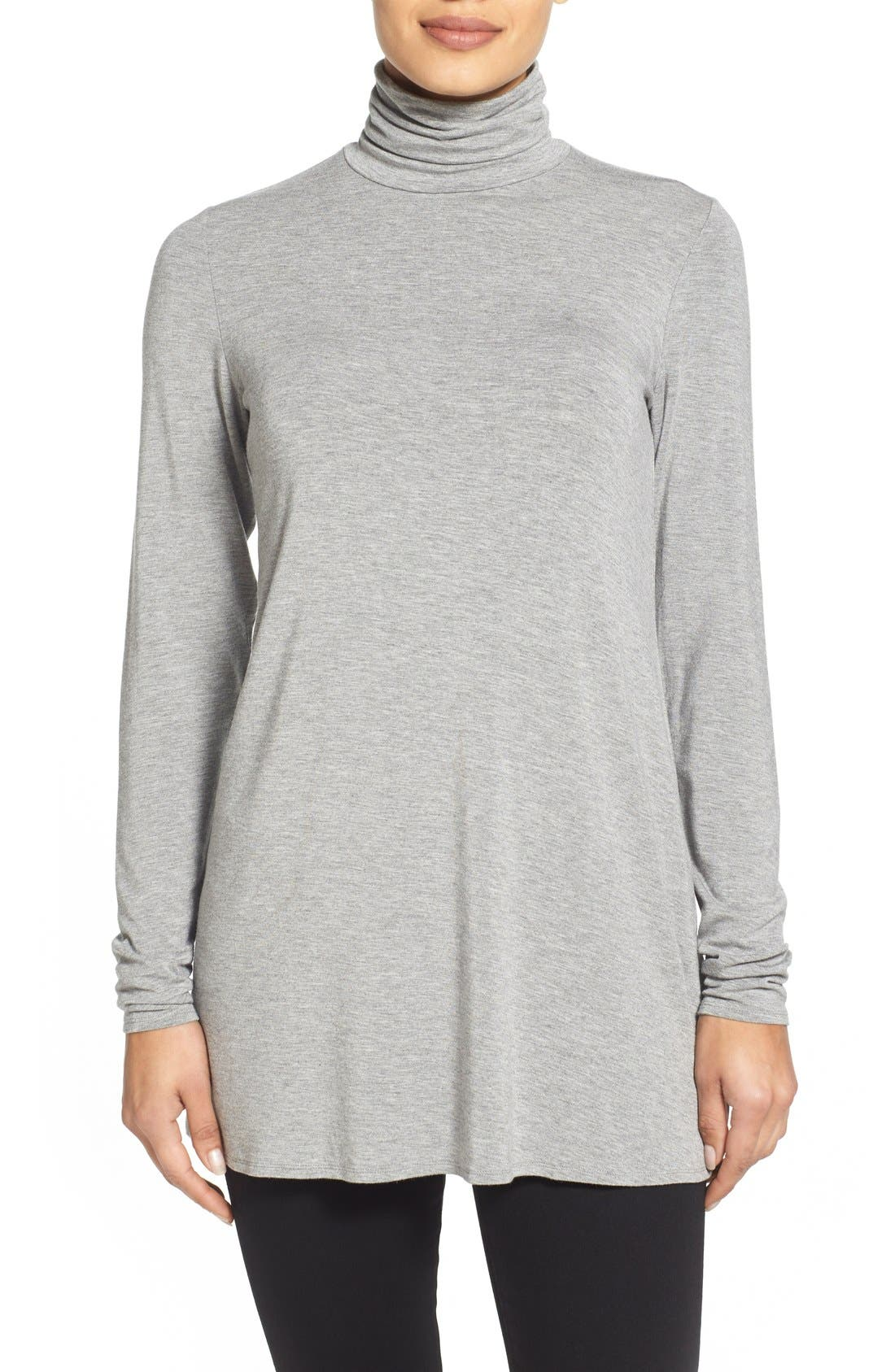 Alternate Image 1 Selected - Eileen Fisher Scrunch Neck Tunic