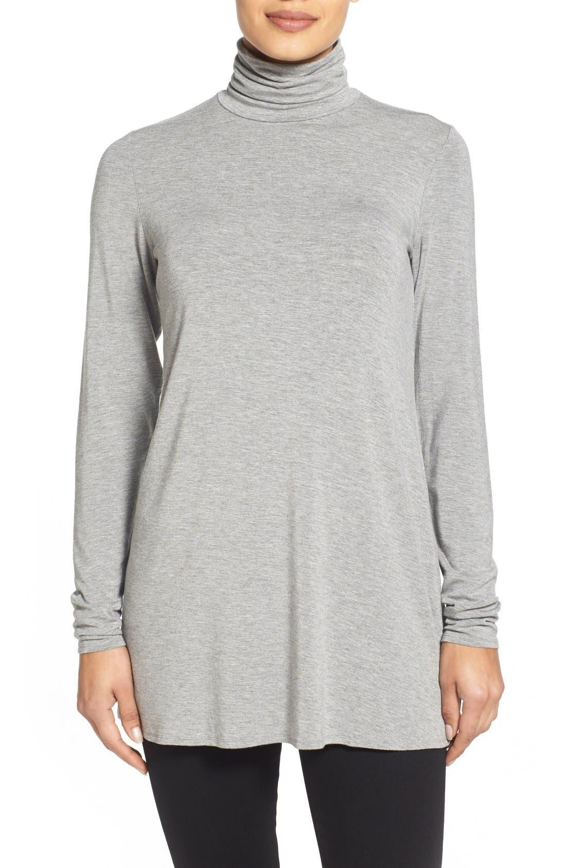 Main Image - Eileen Fisher Scrunch Neck Tunic