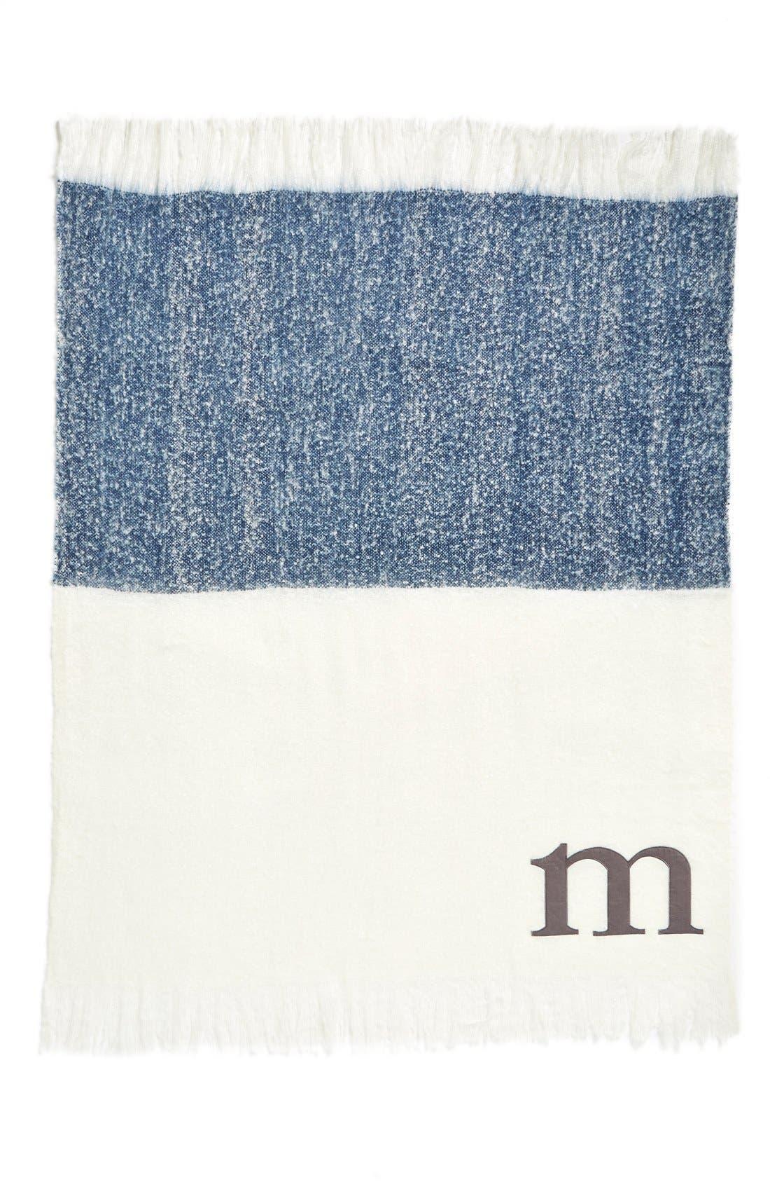Alternate Image 2  - Nordstrom at Home Monogram Colorblock Throw