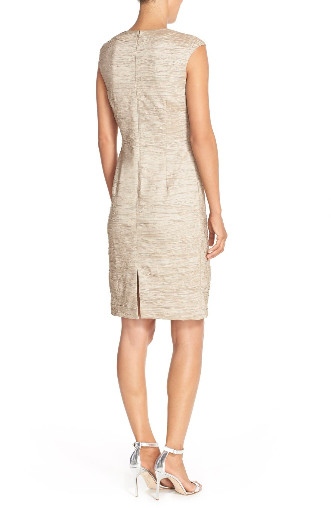 Alternate Image 2  - Eliza J Embellished Crushed Taffeta Sheath Dress
