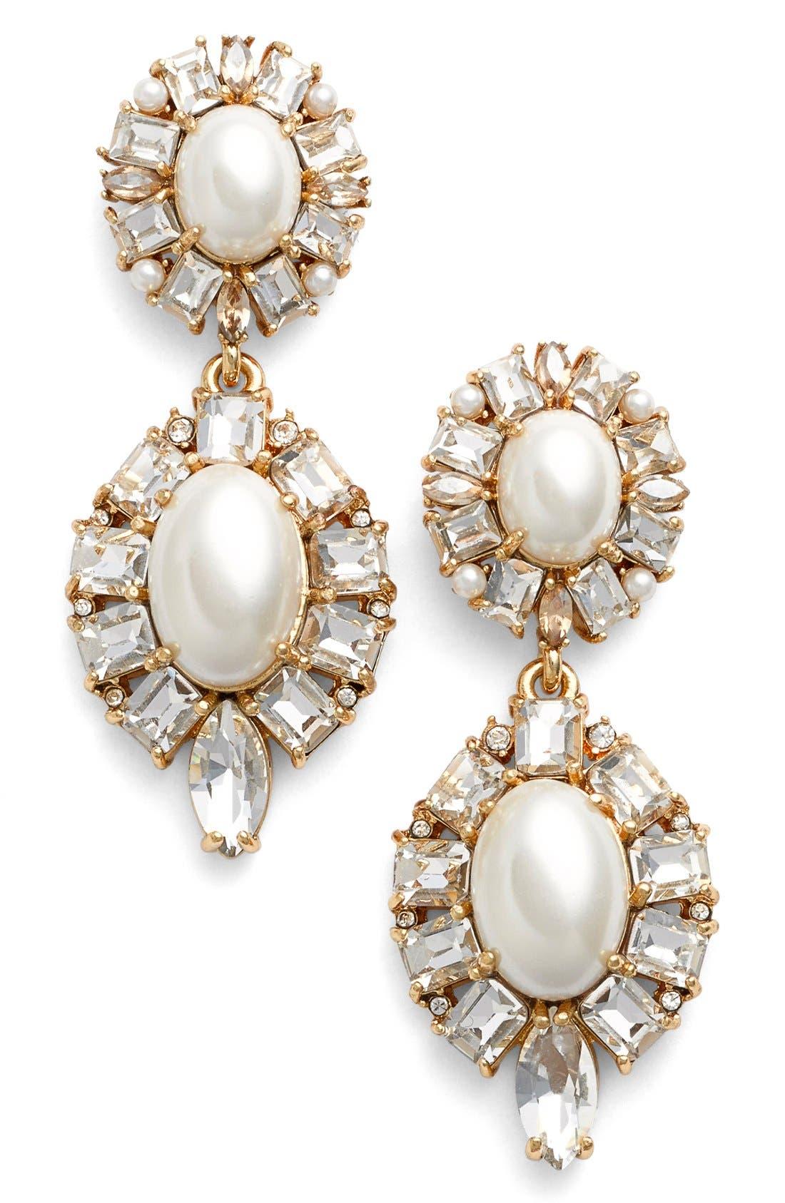 Alternate Image 1 Selected - kate spade new york faux pearl drop earrings