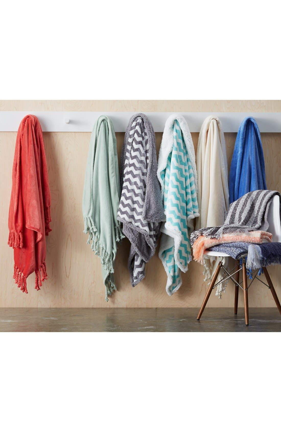 Alternate Image 3  - Nordstrom at Home Stripe Knit Throw