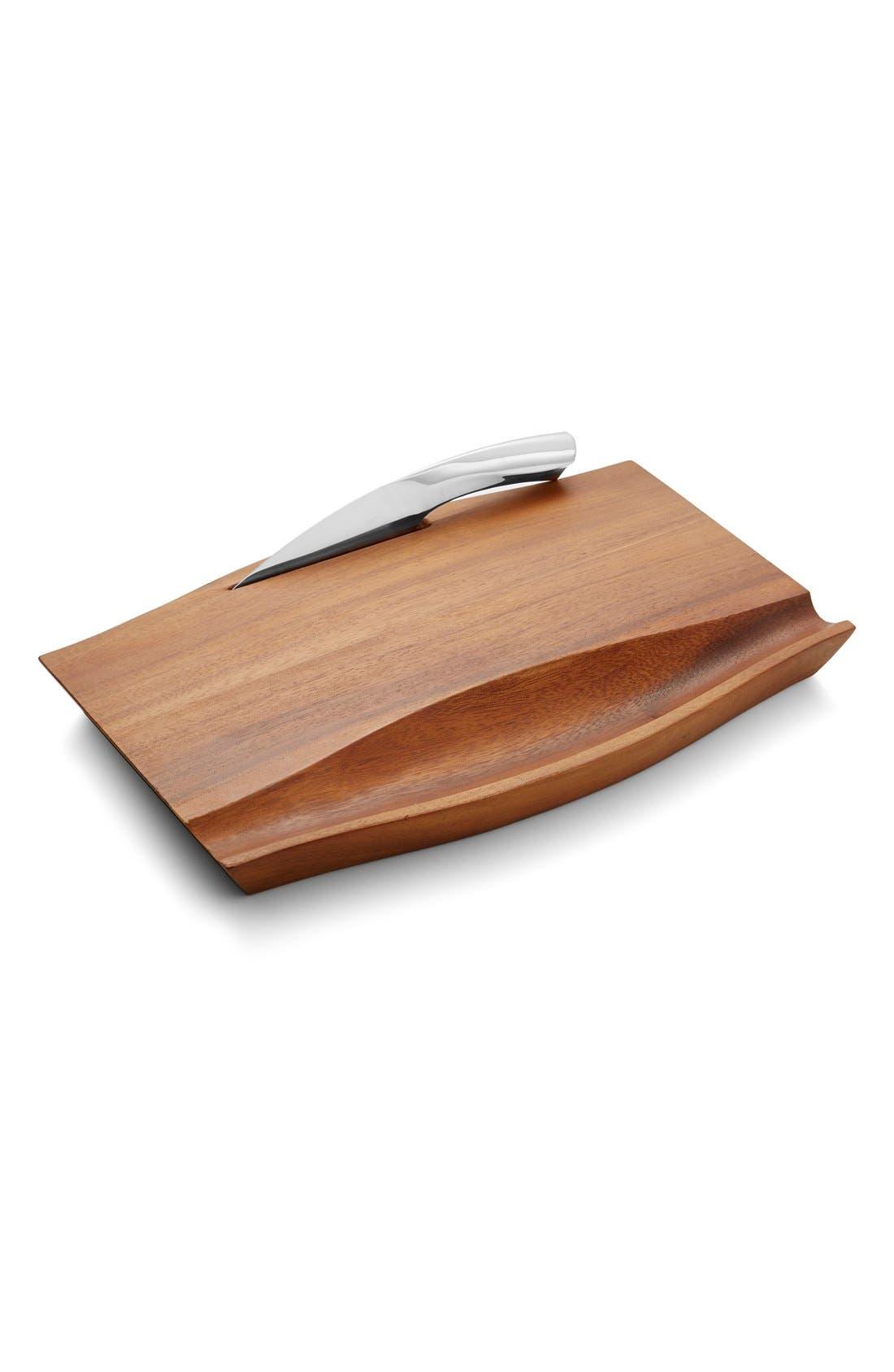 Nambé 'Drift' Cheese Board & Knife