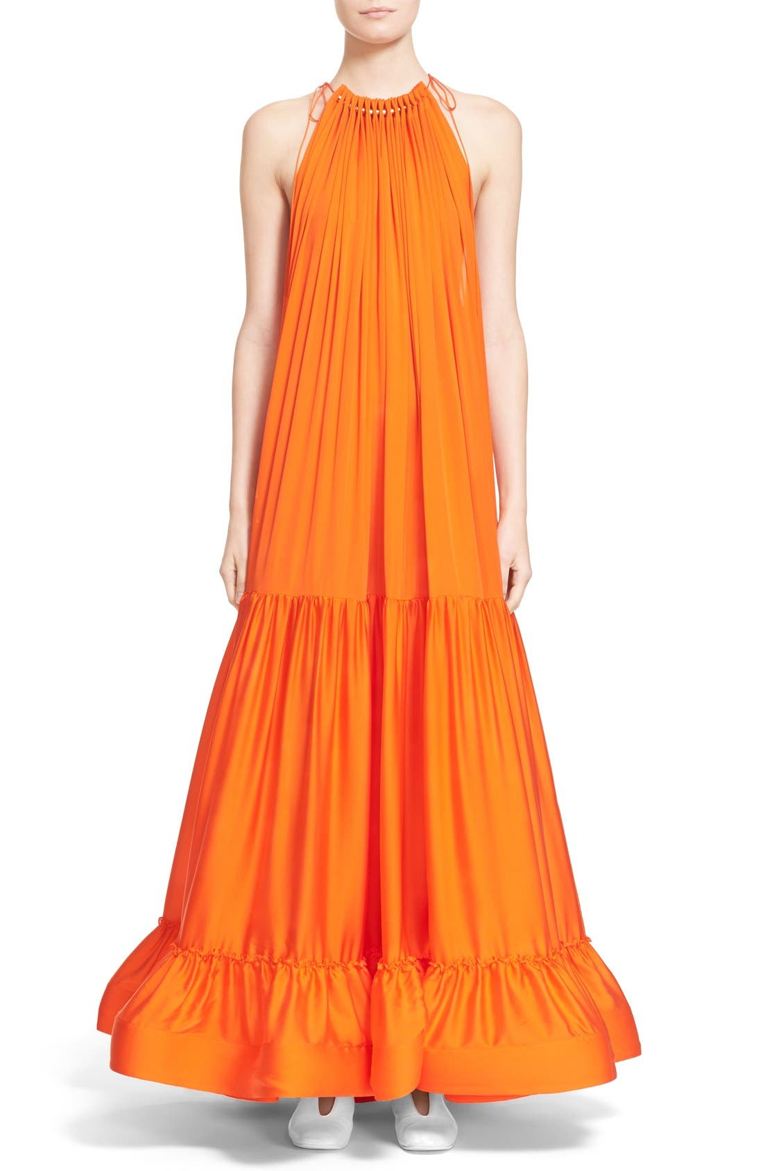Alternate Image 1  - Stella McCartney High Neck Silk Parachute Gown