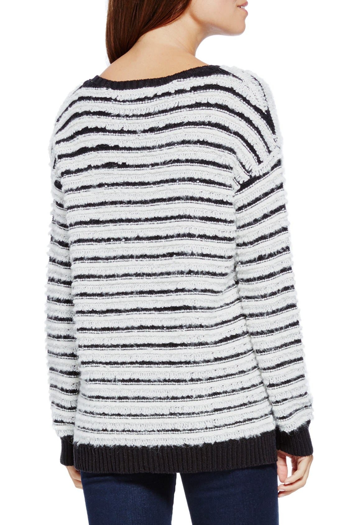 Alternate Image 2  - Two by Vince Camuto Stripe Loopy Stitch Sweater
