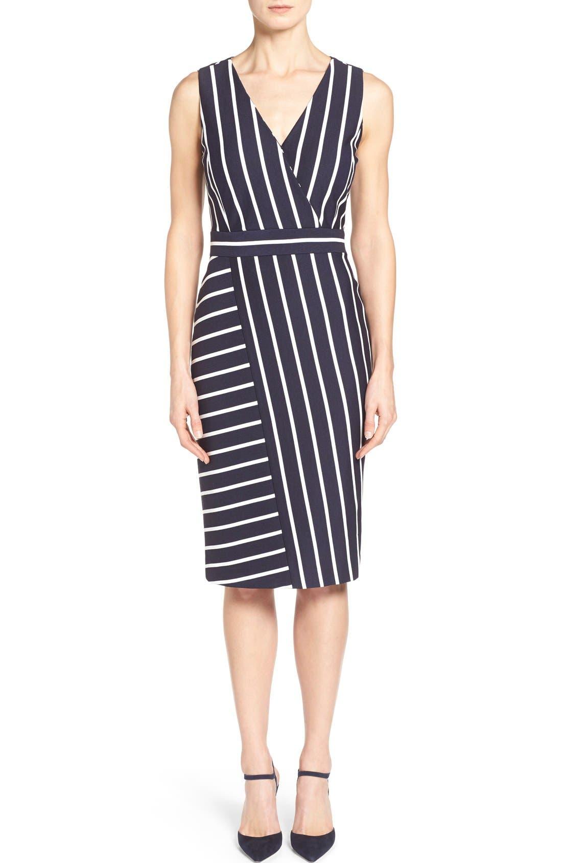 Main Image - Classiques Entier® 'Orizzonte' Ponte Knit Faux Wrap Dress