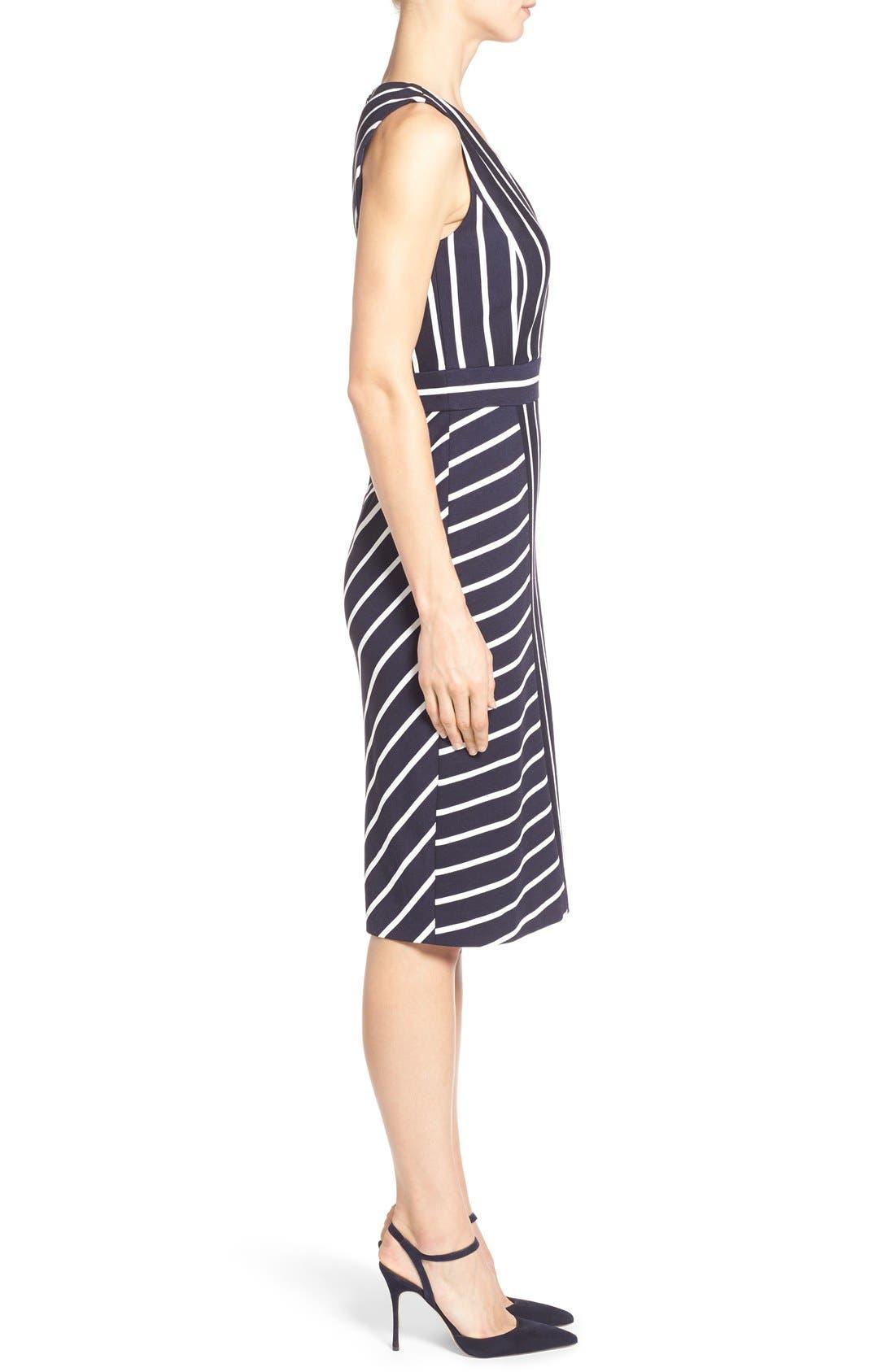 Alternate Image 3  - Classiques Entier® 'Orizzonte' Ponte Knit Faux Wrap Dress
