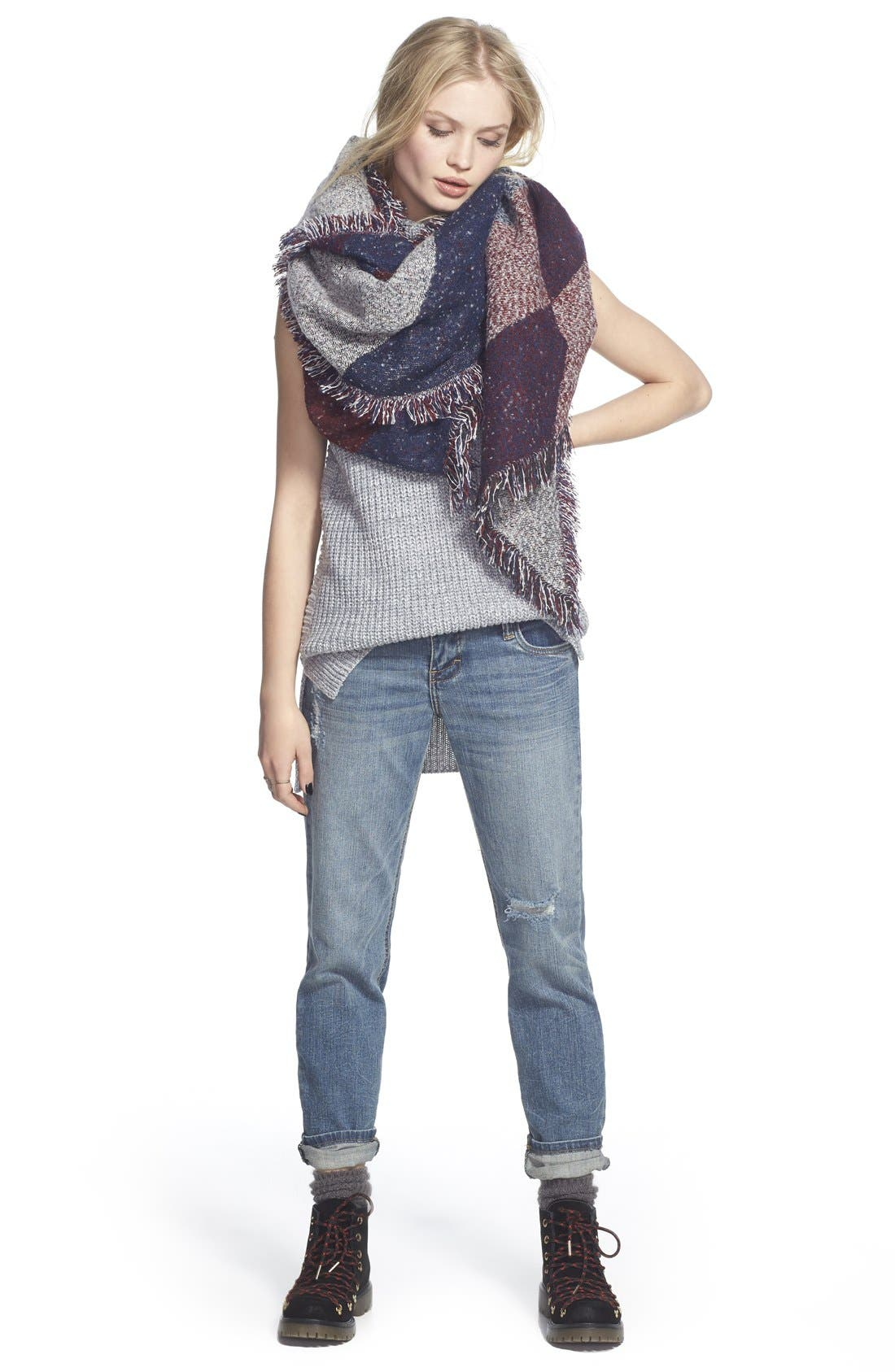 Alternate Image 2  - BP. Marled Colorblock Oblong Scarf