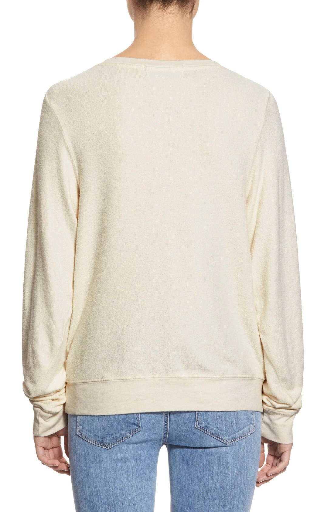 Alternate Image 2  - Wildfox 'Baggy Beach Jumper - Frosty Face' Pullover