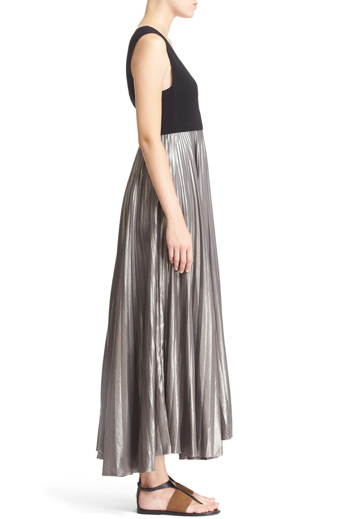 Alternate Image 3  - A.L.C. 'Emilia' Pleated Midi Dress