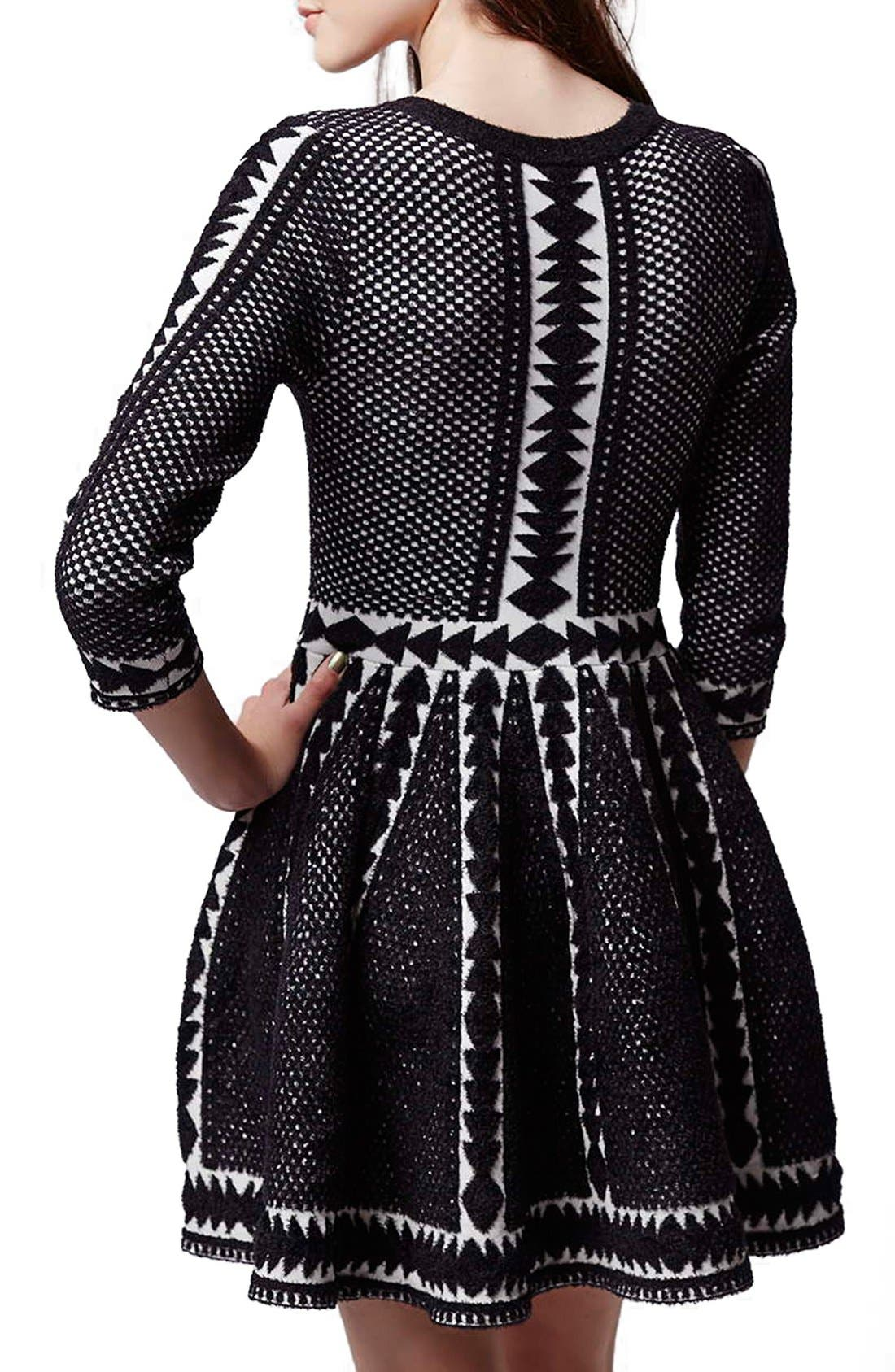 Alternate Image 3  - Topshop 'Premium' Fit & Flare Sweater Dress