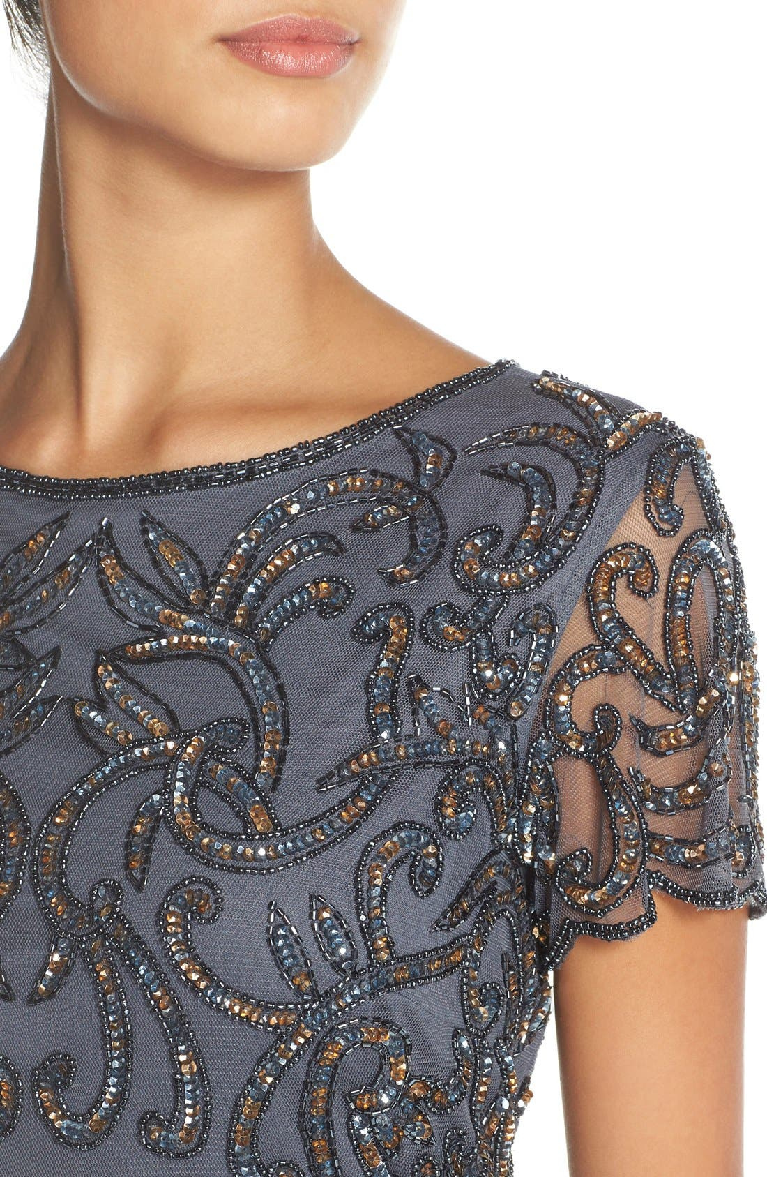Alternate Image 4  - Pisarro Nights Embellished Mesh & Chiffon Gown