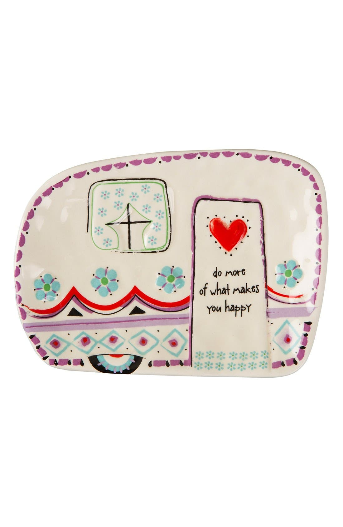 Alternate Image 1 Selected - Natural Life 'Do More of What Makes You Happy' Ceramic Trinket Tray