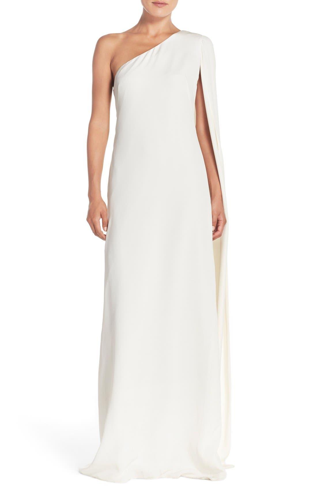 Main Image - Jill Jill Stuart Cape Sleeve Crepe Gown