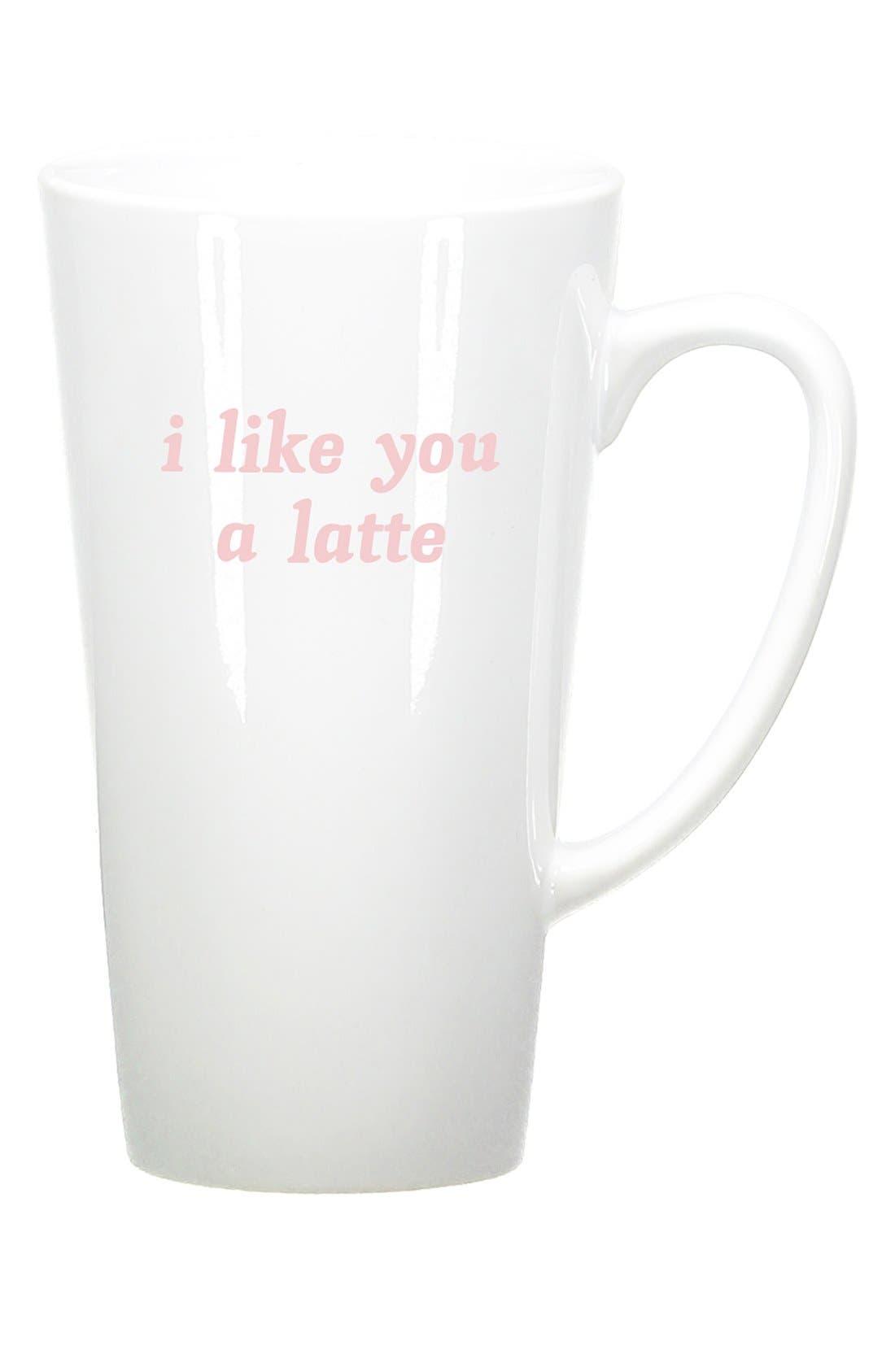 Alternate Image 1 Selected - Bow & Drape 'I Like You A Latte' Ceramic Mug